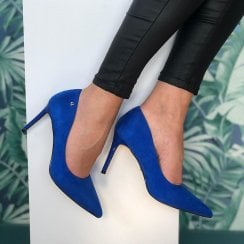 Una Healy Moon River Blue High Heel Court Shoes