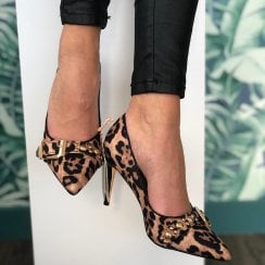 Una Healy Aint She Sweet Leopard Print Stiletto Shoes