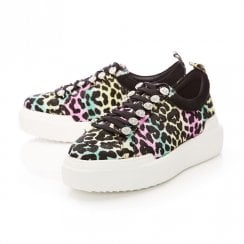 Moda In Pelle Alejandra Rainbow Leopard Calf Hair Trainer