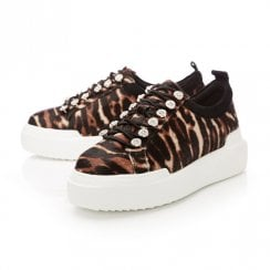 Moda In Pelle Alejandra Tiger Calf Hair Trainer