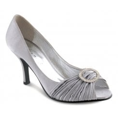 Lunar Sienna Grey Peep Toe Court