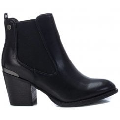 Xti Womens Black Heeled Ankle Boot