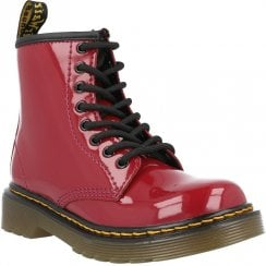 Dr Martens Junior 1460 Dark Scooter Red Patent Lamper Boots
