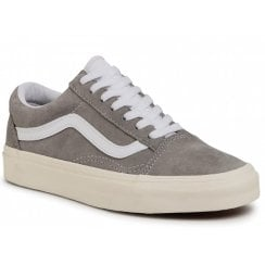 Vans Ladies Old Skool Pig Suede Grey Trainers