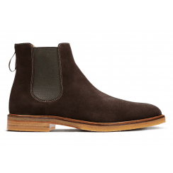 Clarks Mens Clarkdale Gobi Dark Brown Suede Chelsea Boot