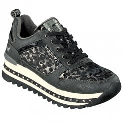 Mustang Womens Grey Leopard Trainer
