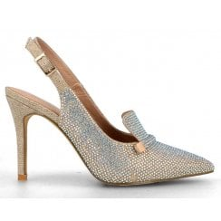 Menbur Stone Diamonte Sling Back Court
