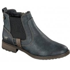 Mustang Ladies Navy Ankle Boot