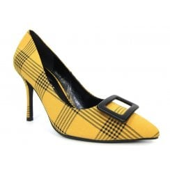 Lunar Womens Sheena Yellow Elegance Court Shoe