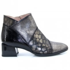 Hispanitas Python Alps Metallic Combination Ankle Boot