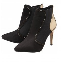 Ravel Amancio Black and Gold Ankle Boot