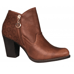 Escape Ladies Laredo Two Brown Heeled Boot