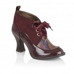 Ruby Shoo Emma Burgundy High Heel Shoe-09350
