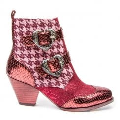 Irregular Choice Too Hearts - Burgundy