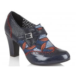 Ruby Shoo Tamsin Blue and Orange High Heels-09351