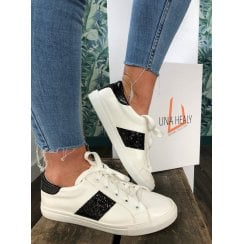 Una Healy Raised on Country White/ Black Trainers