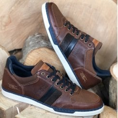 Lloyd & Pryce Tommy Bowe Mens Turner Burnish Brown Trainers