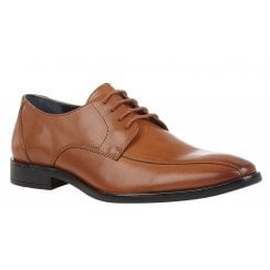 Lotus Mens Howard Tan Leather Lace-Up Smart Shoes