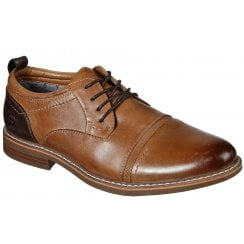 Skechers Mens Bregman Selone Tan Lace-Up Shoes