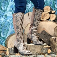 Zanni & Co Ladies Akroum Long Snake Boots