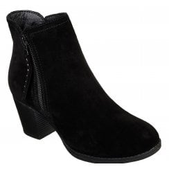 Skechers Ladies Taxi- Don't Trip Black Suede Boot