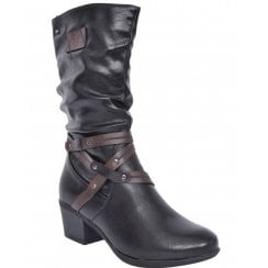 Zanni & Co Ladies Benha Mid-Length Black Boot