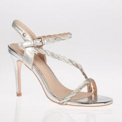 Una Healy Homecoming Queen Diamante Sandal - Silver