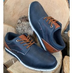 Lloyd & Pryce Tommy Bowe Mens Marshall Storm Mix Navy Trainers