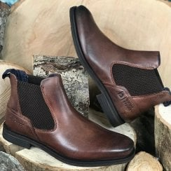 Bugatti Mens Kiano Exko Brown Slip On Boots