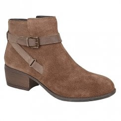 Lotus Ladies Dani Taupe Suede Ankle Boots