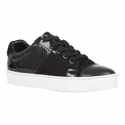 Lotus Sherlyn Black Womens Lace Up Sneakers
