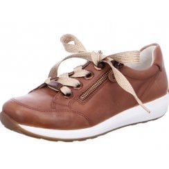 Ara Ladies Osaka Cognac Lace-Up Trainers