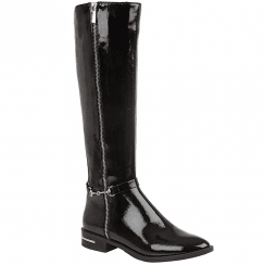 Lotus Ladies Tamzin Black Patent Long Boots