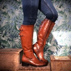 Susst Ladies Sandy Long Tan Boots