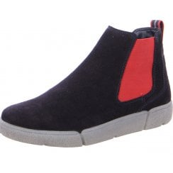 Ara Ladies Rom Navy Chelsea Ankle Boot