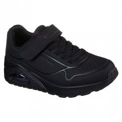 Skechers Street UNO Air Blitz Black Velcro Trainers