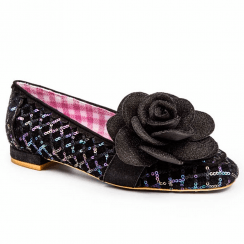 Irregular Choice Sweet Briar Flats - Black