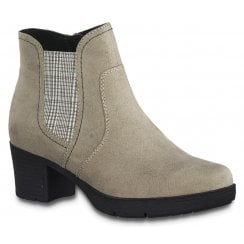 Jana Ladies Taupe Suede Ankle Boots