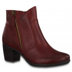 Jana Ladies Red Ankle Boots