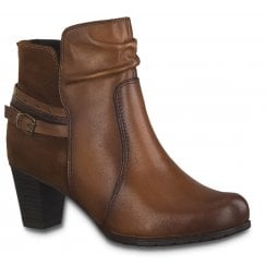 Jana Ladies Tan Ankle Boots
