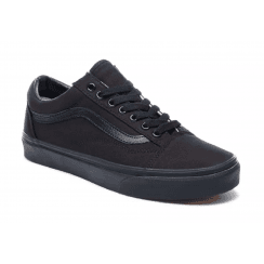 Vans Mens Old Skool Black Lace-Up Trainers