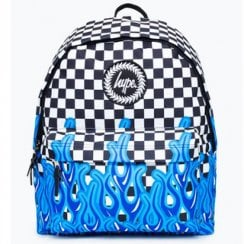 Hype Blue Flame Check Backpack 18 litres