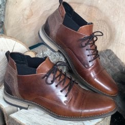 Escape Mens French Glory Caramel Ankle Boots