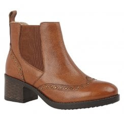 Lotus Lucinda Tan Leather Studded Boots