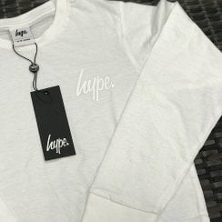 Hype Kids White Long Sleeve Top