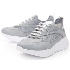 Moda In Pelle Ladies Alarisia Grey Nubuck Trainers