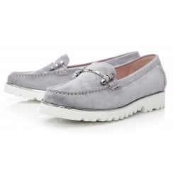 Moda In Pelle Ladies Aretina Light Blue Loafers