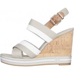 Tommy Hilfiger Ladies Stone High Wedged Sandals