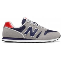 New Balance Mens 373 Lifestyle Shoes - Grey with Navy