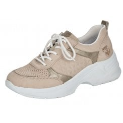 Rieker Ladies Rose Pink Chunky Sole Trainers
